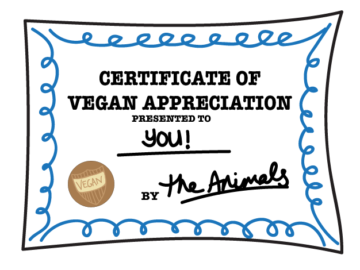 Certificate of Vegan Appreciation